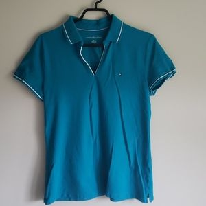 Tommy Hilfiger Turquoise Polo- Size L